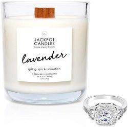 Lavender Candle with Ring Inside (Surprise Jewelry Valued at $15 to $5,000) Ring Size 8