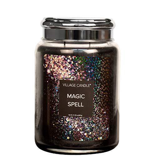 Village Candle Magic Spell 26 oz Glass Jar Scented Candle, Large