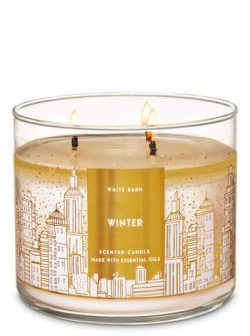 White Barn Bath and Body Works 3 Wick Scented Candle Winter 14.5 Fl Oz