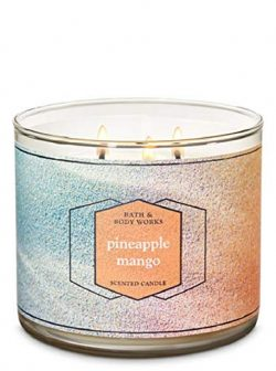 Bath and Body Works Pineapple Mango Scented 3 Wick Candle – 14.5 oz