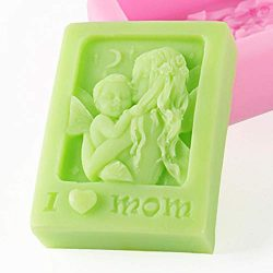 Lianle Mother's Day Silicone DIY Handmade Soap Mold Cake Baking Tool for DIY Handmade Soap ...
