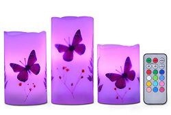 3 Set LED Candles Light Batteries Powered Unscented LED Tealight, Flameless Paraffin Wax Candle  ...
