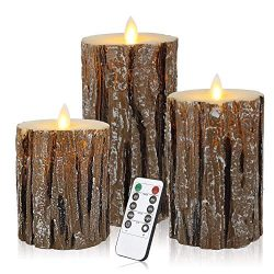 ztd Set of 3 Flameless LED Candles Pillar Candle with Timer and 18-Key