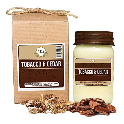Aira Soy Candles – Organic, Kosher, Vegan, in Mason Jar w/Therapeutic Grade Essential Oil  ...