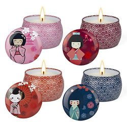 Valentine's Day Present Japanese Geisha Scented Candle Sets Gifts for Young girl Fragrance ...