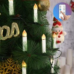 VIVOHOME 50Pcs Mini Flameless Clip-on Electric Christmas Tree LED Candle Indoor String Lights wi ...