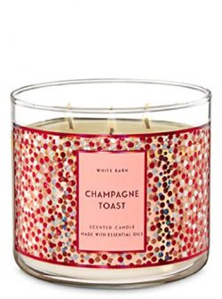 White Barn Bath & Body Works 3-Wick Scented Candle in Champagne Toast (2019)