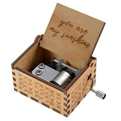 You are My Sunshine Wood Music Boxes,Laser Engraved Vintage Wooden Sunshine Musical Box Gifts fo ...