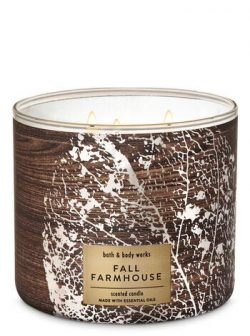 White Barn Bath & Body Works 3 Wick Candle Fall Farmhouse