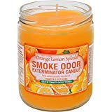 Smoke Odor Exterminator 13 oz Jar Candles Orange Lemon Splash, (3)