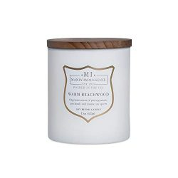 Manly Indulgence Scented Jar Candle, Warm Beachwood, Signature Collection – Soy Wax Blend, ...