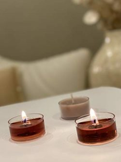 Scented tealight Candles Bulk in Clear Cup for Beautiful Candlelight – Proudly Made in The ...