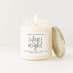 Sweet Water Decor Silent Night Candle Glass Jar Soy Wax Tree Scented Candle Pine Birch Woods San ...