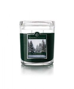 Colonial Candle 8 Oz Scented Oval Jar Candle, Winter Woods