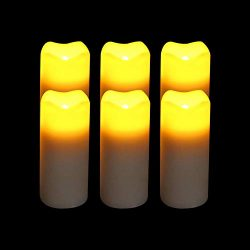 LED Votive Flickering Flameless Candles 6 Pack, Battery Operated Votive Candles(1.375″x3&# ...