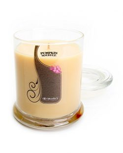 Pumpkin Souffle Candle – Medium Beige 10 Oz. Highly Scented Jar Candle – Made with N ...