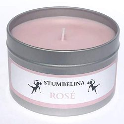 ROSÉ ALL DAY – PINK SOY WAX AROMATHERAPY CANDLE – 8oz TIN – WINE SCENTED