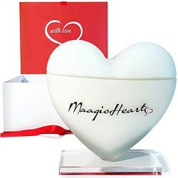 MaagicHearts Decorative Luxury Organic Scented Soy Candles for Women, Girlfriend Gifts, Unique G ...