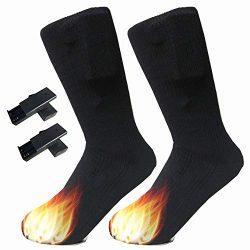 ☀ Dergo ☀Cotton Heated Socks Sports Skiing Socks Winter Foot Warmer Electric Heating Sock
