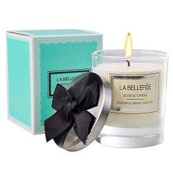 LA BELLEFÉE Scented Candle 7oz Natural Soy Wax Aromatherapy Strong Fragrance of Vanilla & Co ...