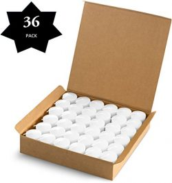 Votive Candles White – 15 Hour Burn Time – 36 Pack Emergency Candles – for Wed ...