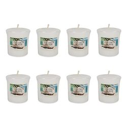 Home Traditions Single Wick Evenly Burning Highly Scented Votive Candle, Set of 8  (1.8 Oz Each) ...