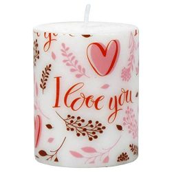"Valentine Day Romantic Candles Set of 2 – 3.5X2.5 "" Valentine Candles Add a Warm Glo ..."