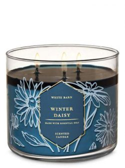 White Barn Bath and Body Works Winter Daisy 3 Wick Candle 14.5 Ounce