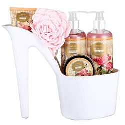 Draizee Rose Scented Home Spa Luxurious 4 Piece Relaxation with Lovely Fragrance Gift Basket Set ...