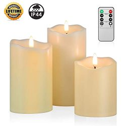 ANGELLOONG Upgraded Flickering Flameless Candles, Most Realistic Waterproof LED Candles with Rem ...
