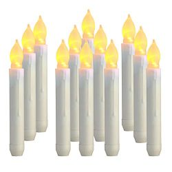 Homemory 6.9″ LED Battery Operated Taper Candles, Flickering Flameless Tapered Candlestick ...