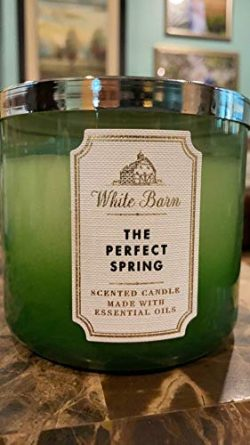 White Barn Bath & Body Works The Perfect Spring Large 3-Wick Scented Candle 14.5 oz