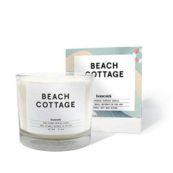 Homesick 3 Wick Scented Candle, Soy Wax – 27.5 oz (90 to 110 hrs Burn Time), Beach Cottage