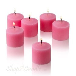 Light In The Dark Soft Pink Votive Candles – Box of 12 Unscented Candles – 10 Hour B ...