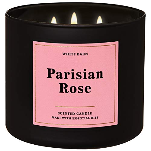 Bath and Body Works PARISIAN ROSE 3-Wick Candle 14.5 Ounce (Limited Edition)