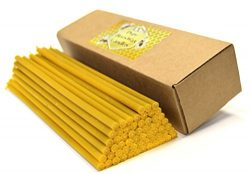 Natural Pure Beeswax Candles Organic Honey Eco Candles in Gift Box (Natural Cotton Wicks, Driple ...
