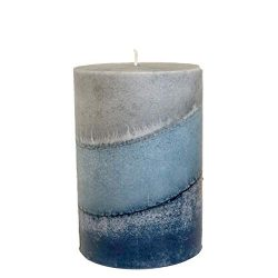 Wicks N More Indigo Mist Handmade Pillar Candles (3×4)