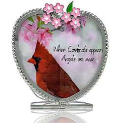 BANBERRY DESIGNS Memorial Candle Holder – When Cardinals Appear, Angels are Near – R ...
