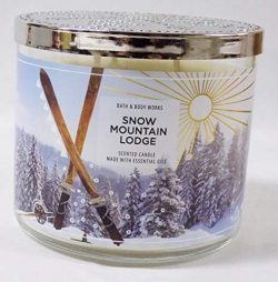 B Bath Snow Mountain Lodge 3 Wick Scented Candle (Smoked Embers, Silver Pine, Sandalwood) Made w ...