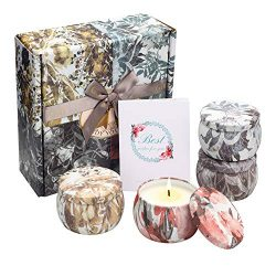 YINUO MIRROR Scented Candles Gift Set, Soy Wax 4.4 Oz Portable Travel Tin Candles Women Gift wit ...