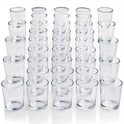 DARJEN Votive Candle Holders Set of 72 – Glass Votives Holder – Clear Tealight Candl ...