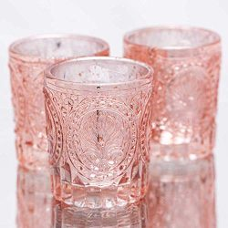 Richland Votive Holders Mercury Primrose Wedding Event Candle Glow Rose Gold Set of 12