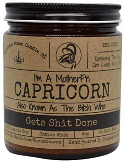 Malicious Women Candle Co – Capricorn The Zodiac Bitch – Gets Shit Done, Take A Hike ...