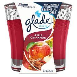 Glade Jar Candle Air Freshener, Apple Cinnamon 3.4 oz