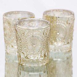 Richland Votive Holders Mercury Primrose Wedding Event Candle Glow Metallic Gold Set of 12