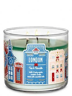 Bath and Body Works White Barn London Tea and Biscuit 3 Wick Candle Winter 2019