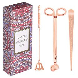 RONXS 3 in 1 Candle Accessory Set, Candle Wick Trimmer Candle Cutter, Candle Snuffer, Candle Wic ...