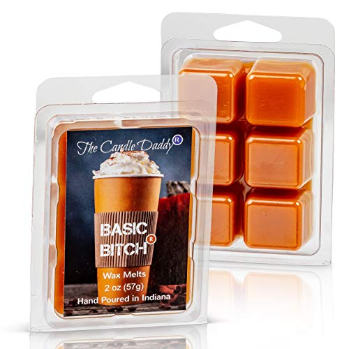 The Candle Daddy Basic Bitch- Funny Pumpkin Spice Scented Melt- Maximum Scent Wax Cubes/Melts- 1 ...