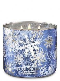 Bath and Body Works White Barn Winter Snowfall 3 Wick Candle 14.5 Ounce Winter 2019