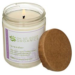 Oh So Good Organics Organic Lavender Botanical Soy Candle, 16 Ounce